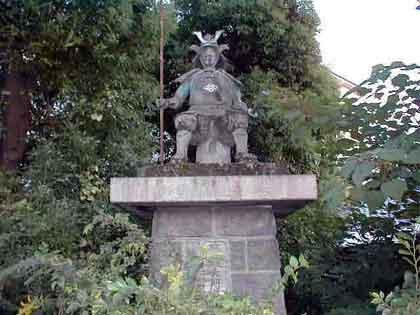 木村重成公の銅像